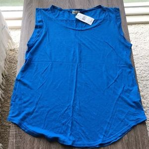 Adriano goldschmied Blue tank top tee SOFT small